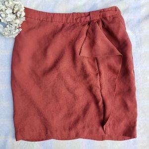 Side Drape Ruffle 30's Style H&M Mini Skirt